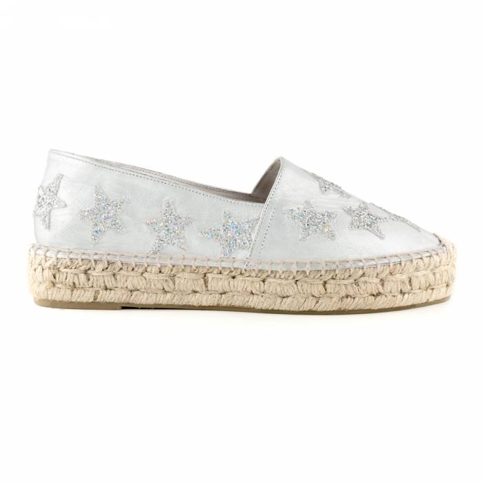 Espadrillas Glitter in Love Grigie