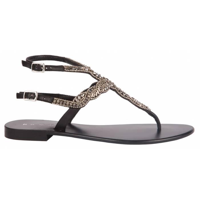Sandalo con applicazioni Nere