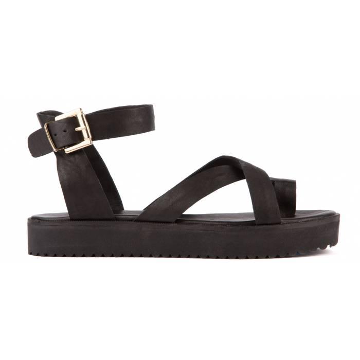 Sandalo con fibbia Nere