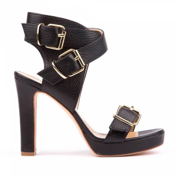 Sandalo con fibbie Nere