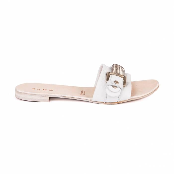 Sandalo con lavorazione Bianche
