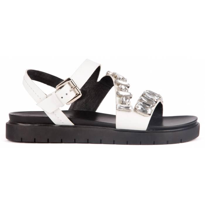 Sandalo con pietre Bianche