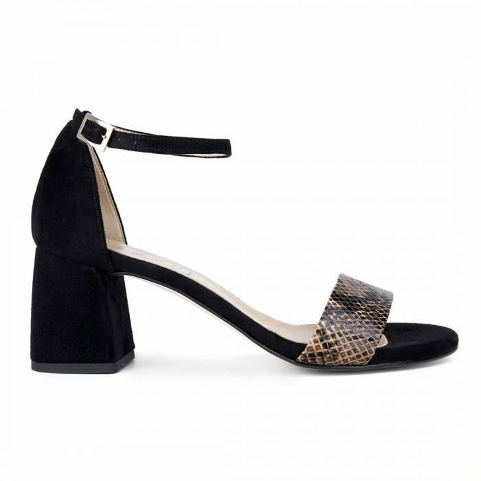 Sandalo con tacco 0008 Nere