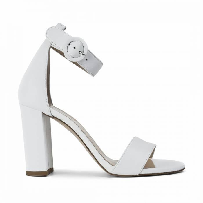 Sandalo con tacco 1005 Bianche