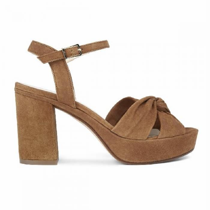 Sandalo con tacco 1990 Marrone chiaro