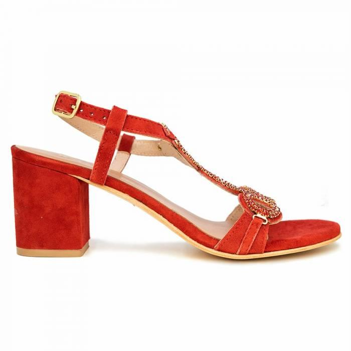 Sandalo con tacco H13 Rosse