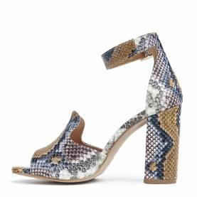 Sandalo con tacco NO26 Piton
