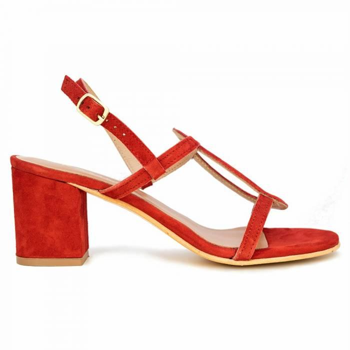 Sandalo con tacco P6 Cam Rosse