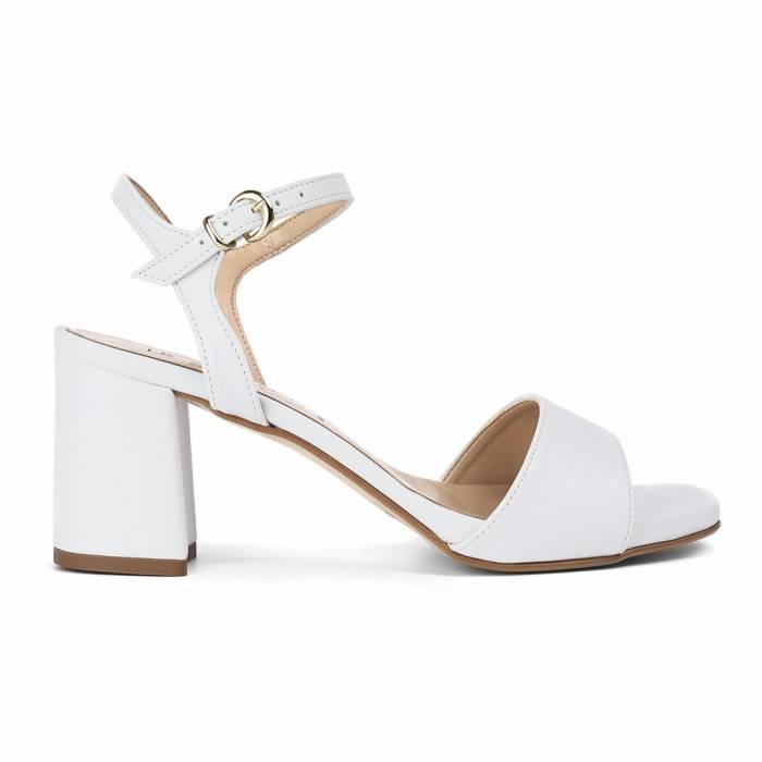 Sandalo con tacco V001 Bianche