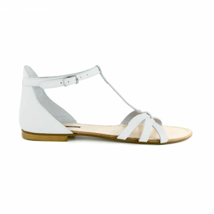 Sandalo cristal Bianche