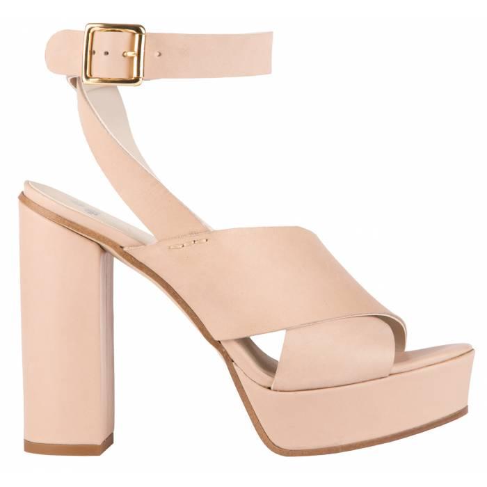 Sandalo fasciato Beige