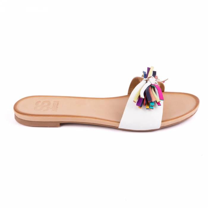 Sandalo multicolor Bianche