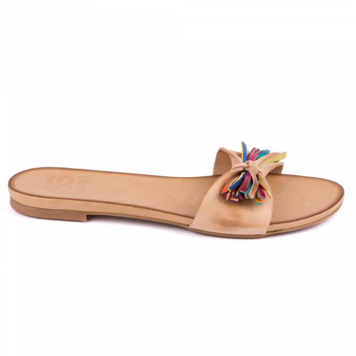 Sandalo multicolor Beige