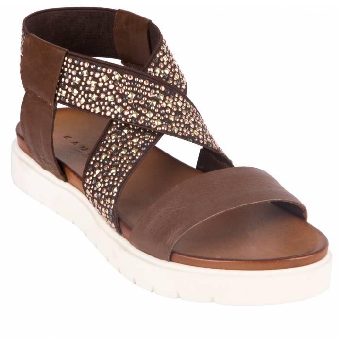 Sandalo pelle borchie