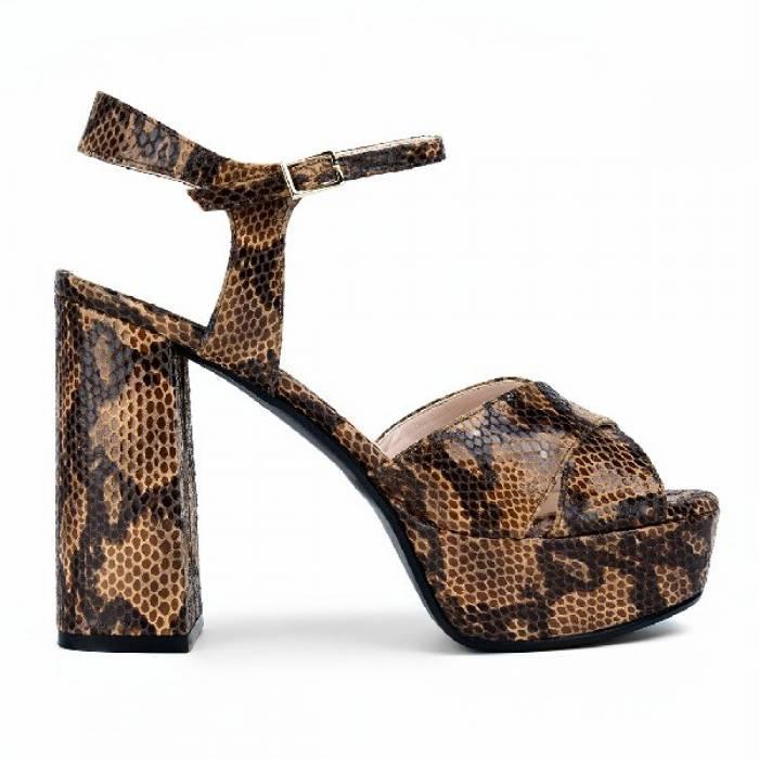 Sandalo Teddy 2212 Piton Marrone chiaro