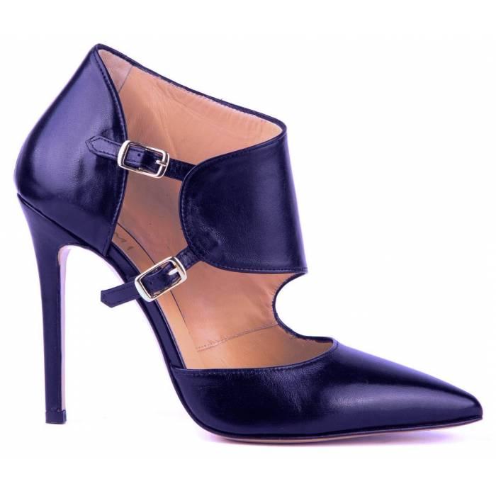 Scarpa con tacco e fascia Blu