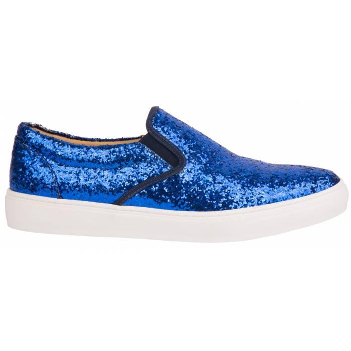 Slip on glitter Blu