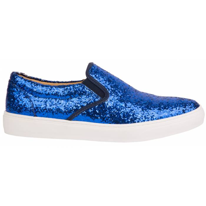 Slipon glitter Blu