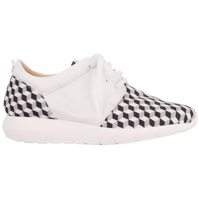 Sneaker pelle tessuto Bianche