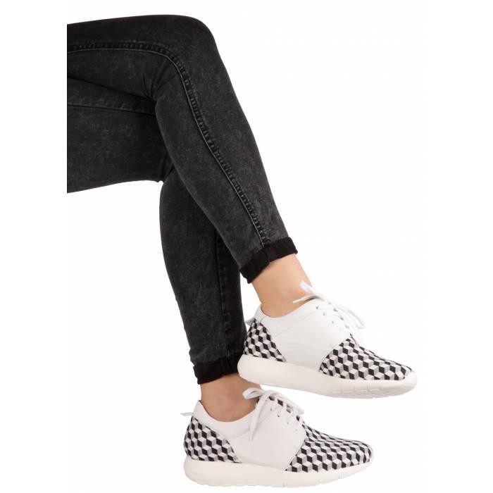 Sneaker pelle tessuto