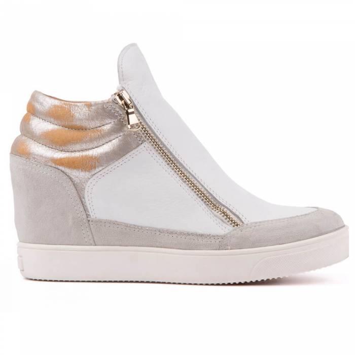 Sneakers con cerniera Bianche