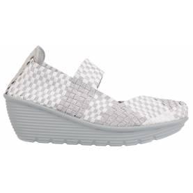 Sneakers Intrecciata con Zeppa
