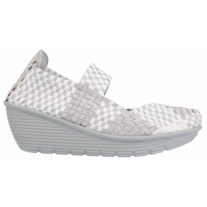 Sneakers Intrecciata con Zeppa Bianche
