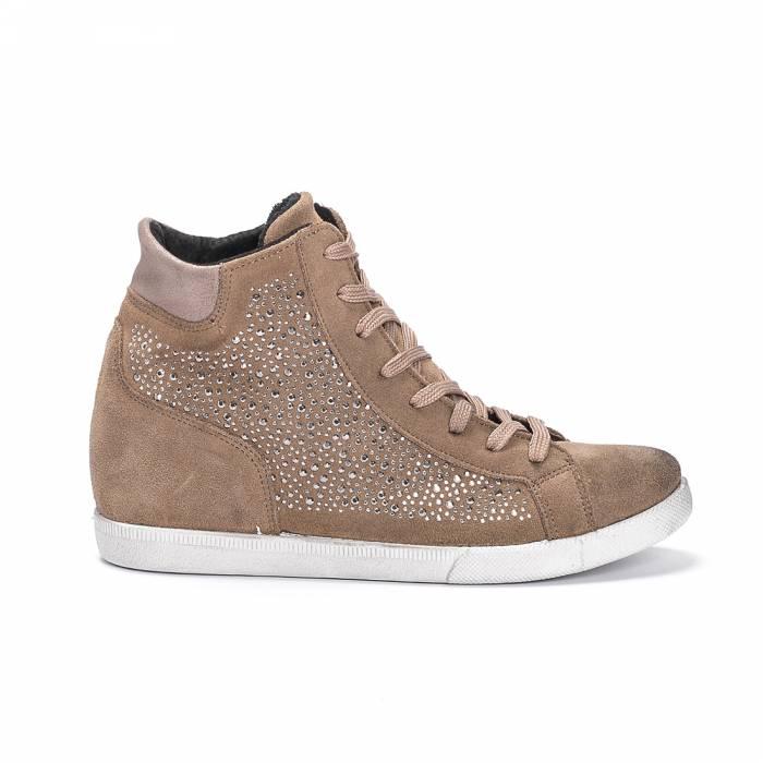 Sneakers Mid 154 Marrone chiaro