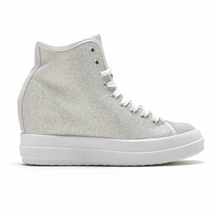 Sneakers Mid Lamè Grigie