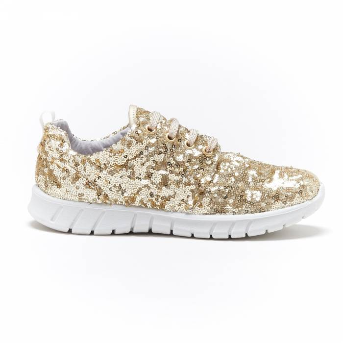 Sneakers Paillettes Oro