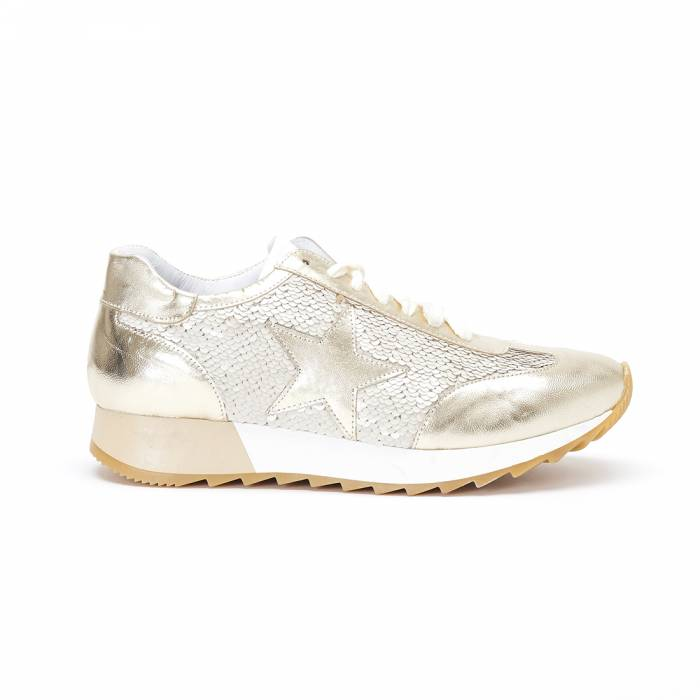 362145f111236 Snekers Stella Paillettes Oro Loading. made in italy