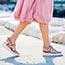 Sandalo con mini zeppa