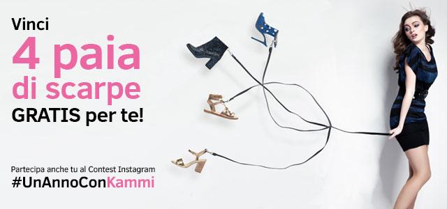 Partecipa al Contest #UnAnnoConKammi e vinci 4 paia di scarpe!