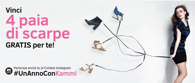 Scatta, posta e vinci 4 paia di scarpe GRATIS per te. Partecipa al Contest Instagram #UnAnnoConKammi