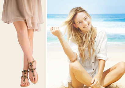 sandali bassi estivi da donna