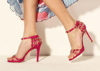 Sandalo aperto Rosso