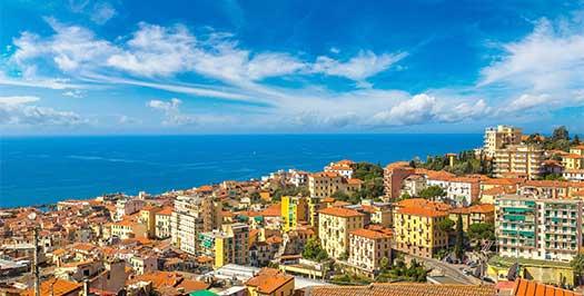 Vista panoramica di Sanremo