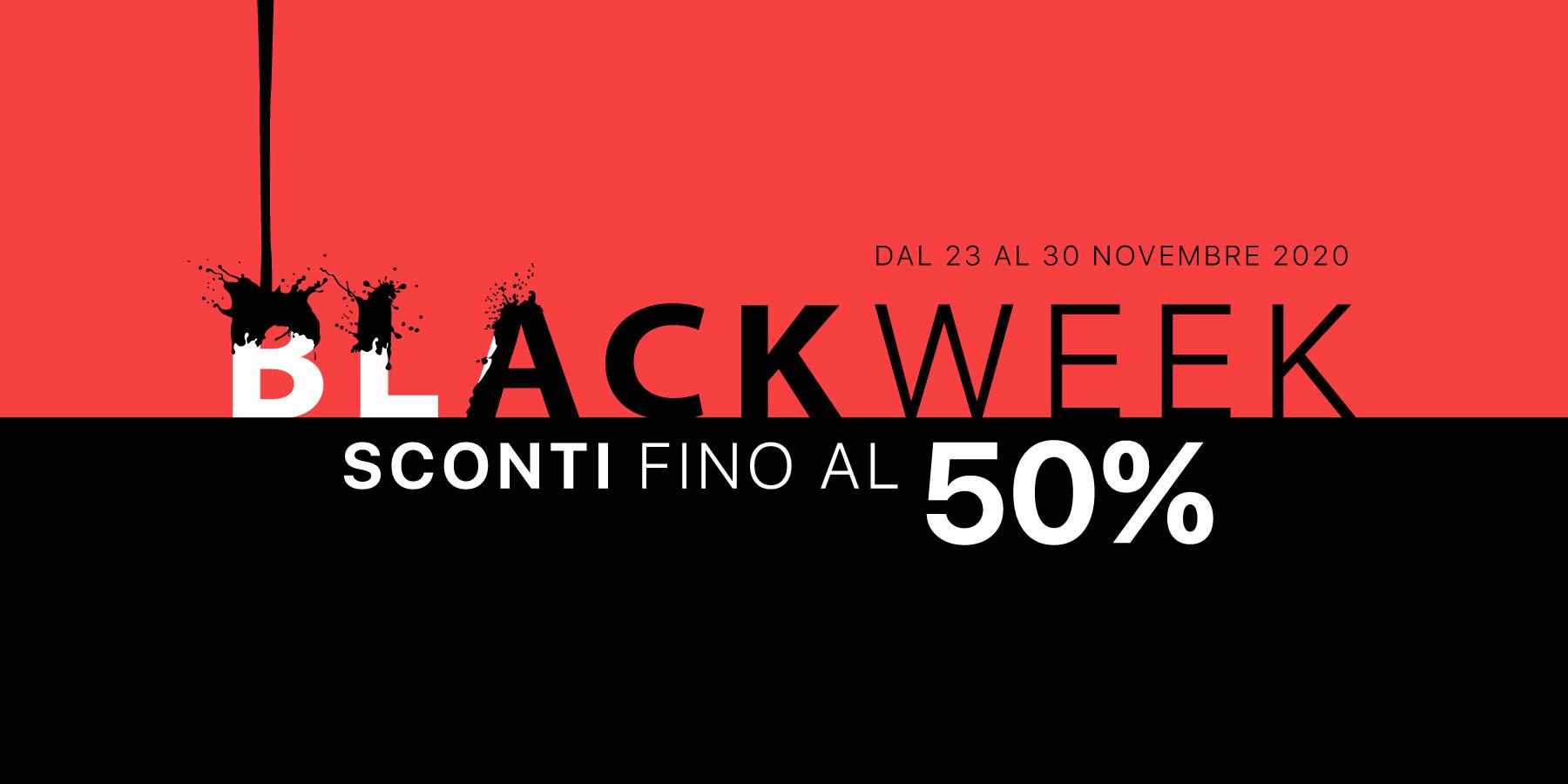 Black Week 2020 - Sconti fino al 50%